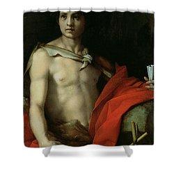 Saint John The Baptist  Shower Curtain by Andrea del Sarto
