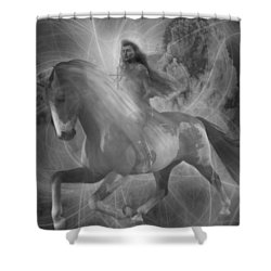 Shower Curtain featuring the painting Saint Kateri 5 by Suzanne Silvir