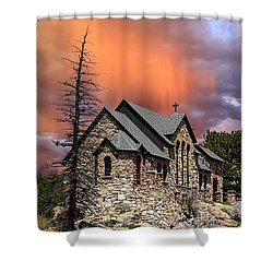 Shower Curtain featuring the photograph Saint Malo Panorama by Shane Bechler