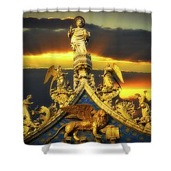 Saint Marks Basilica Facade  Shower Curtain
