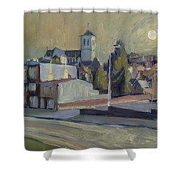 Saint Martin Basilique Liege Shower Curtain