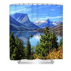 Saint Mary Lake In Glacier National Park Shower Curtain