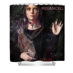 Saint Melangell Of Wales Shower Curtain by Suzanne Silvir