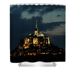 Saint Michel Mount After The Sunset, France Shower Curtain by Yoel Koskas