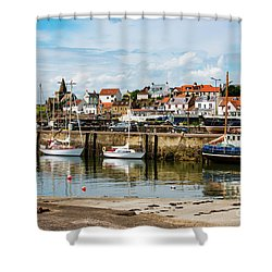 Saint Monans Harbour Shower Curtain