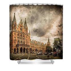 London, England - Saint Pancras Station Shower Curtain