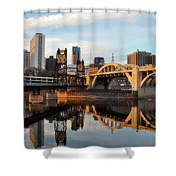 Saint Paul Mississippi River Sunset Shower Curtain
