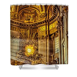 Saint Peter's Chair Shower Curtain
