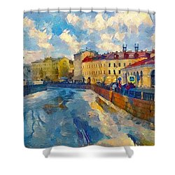 Saint Petersburg Winter Scape Shower Curtain