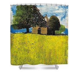 Shower Curtain featuring the painting Saint Pierre At Pierrerue by Martin Stankewitz