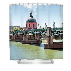 Shower Curtain featuring the photograph Saint-pierre Bridge In Toulouse by Elena Elisseeva