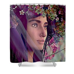 Saint Rose Of Lima 4 Shower Curtain by Suzanne Silvir
