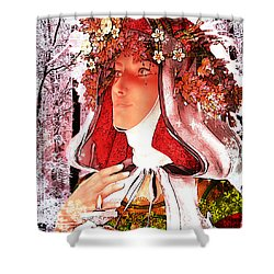 Saint Rose Of Lima Noel Shower Curtain by Suzanne Silvir