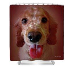 Saint Shaggy Portrait 15 Shower Curtain