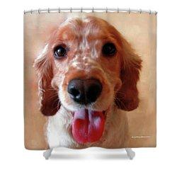 Saint Shaggy Portrait Shower Curtain