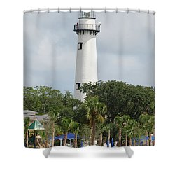 Saint Simons Island Light Shower Curtain