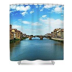 Saint Trinity Bridge From Ponte Vecchio Shower Curtain