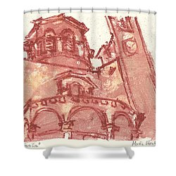 Shower Curtain featuring the painting Saint Veran Cavaillon by Martin Stankewitz