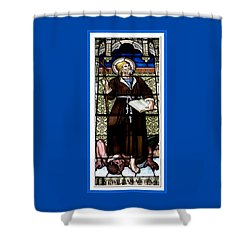 Saint William Of Aquitaine Stained Glass Window Shower Curtain by Rose Santuci-Sofranko