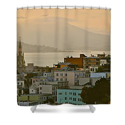 Saints Peter And Paul Spires Shower Curtain by Eric Tressler