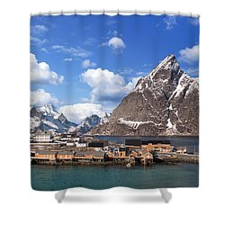 Sakrisoy Shower Curtain by Alex Conu