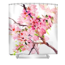 Sakura Cherry Blossom Shower Curtain