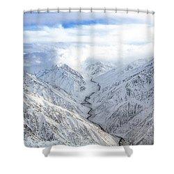 Salang Pass Shower Curtain