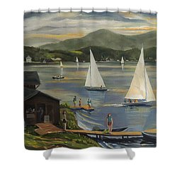 Sailing At Lake Morey Vermont Shower Curtain