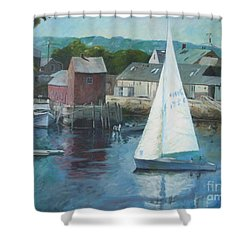 Saling In Rockport Ma Shower Curtain