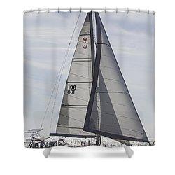 Saling Yacht Valkyrie Charleston Sc Shower Curtain