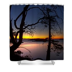 Salish Sunrise Shower Curtain