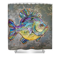 Sally Sunfish Shower Curtain