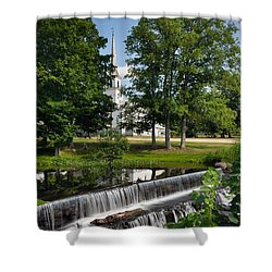 Shower Curtain featuring the photograph Salmon Falls River Dam by Betty Denise