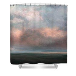Salmon Sky Shower Curtain