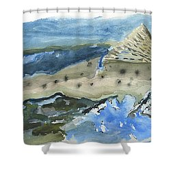 Salmon Surface Shower Curtain