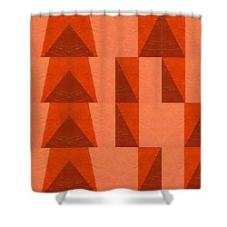 Salmon With Red And Brown Shower Curtain by Michelle Calkins