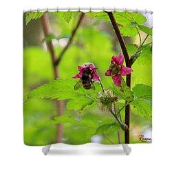 Salmonberry Honey Shower Curtain
