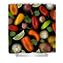 Salsa Shower Curtain
