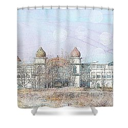 Salt Air Shower Curtain by Cynthia Powell