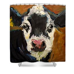 Salt And Pepper Cow Shower Curtain