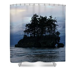 Salt Creek At Sunset Shower Curtain