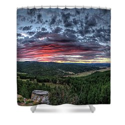 Salt Creek Sunrise Shower Curtain