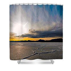 Salt Flats Sunset Shower Curtain