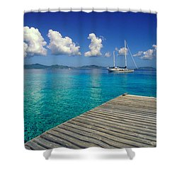Salt Island Ancorage Shower Curtain