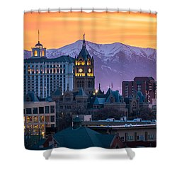 Salt Lake City Hall At Sunset Shower Curtain
