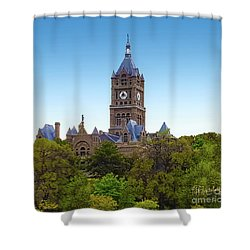 Salt Lake City Hall Shower Curtain
