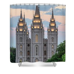 Salt Lake City Temple Morning Shower Curtain