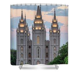 Salt Lake City Temple Morning Shower Curtain