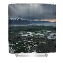 Shower Curtain featuring the photograph Salt Lake Drama by Ryan Manuel