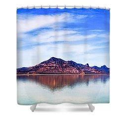 Salt Lake Mountain Shower Curtain by Robert FERD Frank